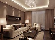 灰暗风格现代客厅简约装修效果图