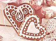 精致下午茶点心爱心饼干图片