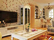 亮丽田园美式客厅装修效果图