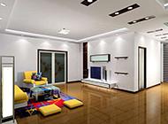 美式现代简约客厅装修效果图