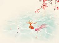 粉色浪漫梦幻古风背景素材