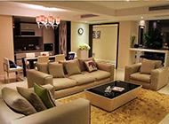 高层别墅现代时尚简约客厅装修效果图