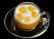 自制芒果牛奶布丁图片