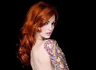 欧美百变美女花臂纹身图案