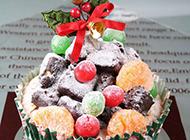 圣诞节创意水果蛋糕图片