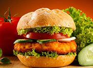 超好吃的鸡肉汉堡图片