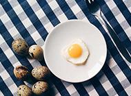 煎鹌鹑蛋唯美图片欣赏