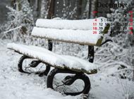 2016年12月日历公园雪景精美壁纸