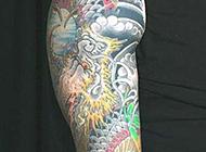 纹身师zuck中国风花臂纹身图案
