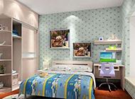 清新儿童卧室装修效果图