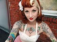 Motoo炫彩少女花臂纹身图案