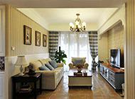 30万装修103平复古客厅装修效果图