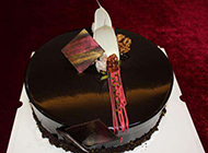 自制黑巧克力蛋糕图片