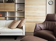 美式简约客厅博古架装修效果图