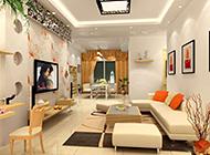 复式套房客厅典雅时尚装修效果图
