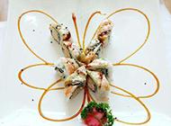 超好吃的蝴蝶卷寿司图片