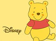 可爱小维尼熊卡通背景图片素材