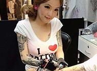 马来西亚性感美女彩绘纹身图片