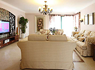 大型客厅美式田园风格装修图片