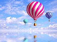 天空中的热气球电脑桌面壁纸