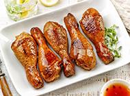 美味的蜜汁烤鸡腿图片