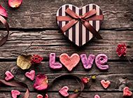 治愈系爱心礼盒红色玫瑰花背景图片