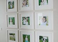 简约纯白的相片墙设计效果图