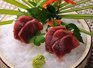 新鲜的金枪鱼刺身图片