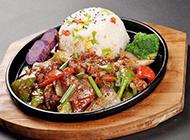 美味的铁板黑椒牛柳饭图