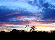 美丽的晚霞风景摄影图片