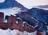 中国古迹万里长城四季风景图片
