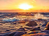 唯美夕阳黄昏意境风景图片
