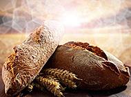 营养健康的全麦面包图片