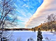 精选雪花满地自然风景图片