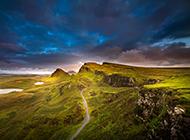 气势雄壮的山脉风景图片