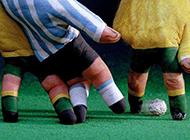 手指足球创意恶搞图片