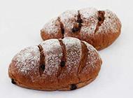 松软可口的巧克力面包图片