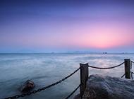 漂亮的大海晚霞风景图片