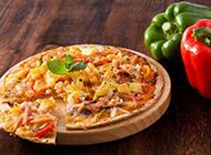 好吃的香辣培根披萨图片