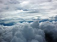 壮观广阔的蓝天白云图片素材