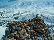 青海祁连山山脉唯美雪景图片