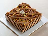 六寸巧克力坚果蛋糕图片
