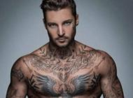 外国的霸气帅哥个性纹身头像