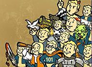 角色扮演游戏辐射4卡通画风壁纸