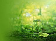 淡雅素净的唯美绿色背景素材
