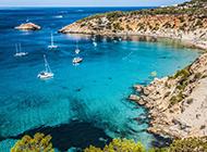 浪漫西班牙蓝色海岛风景壁纸图片