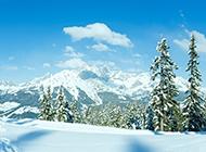 冬天雪山风景高清护眼壁纸