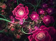 唯美浪漫的插画花卉背景图片