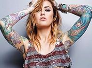 狂野美女的个性艺术纹身图案