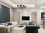 复式套房客厅欧式装修精美时尚